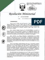 RM Nº 1075-2012-IN-DGRH Directiva Hostigamiento Sexual Ministerio Interior