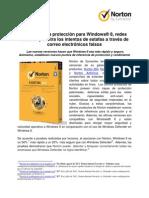 Norton brinda protección para Windows 8 y redes sociales
