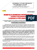 2012 10 15 Communiqué, légionellose la SNCF condamnée
