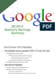 Google Earnings Slides, Q3 2012