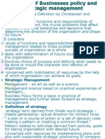 Concept of Strategic Management