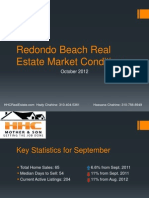 Redondo Beach Real Estate Market Conditions October 2012