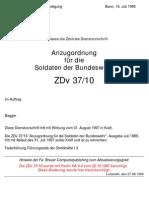 ZDv 37-10 Anzugordnung  für die Soldaten der Bundeswehr