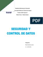 Seguridad y Control de Datos