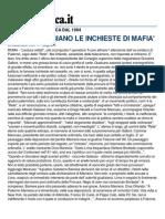 Cosi' Insabbiano Le Inchieste Di Mafia - Repubblica