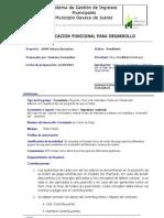 Formato de Requerimientos - Orden de Pago SD