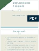Capilano University Copyright Presentation - Fall-Winter 2012