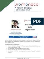 Psychologie de la Négociation (Philippe Gouillou - Forum Ecobiz 2012)