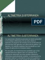 ALTIMETRIA SUBTERRANEA