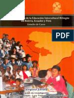 Avances y desafíos de la educación intercultural bilingüe en Bolivia, Ecuador y Perú.