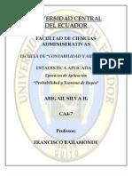 EJERCICIOS PROBABILIDAD Y TEOREMA DE BAYES