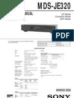 Sony MDS-JE320 Service Manual