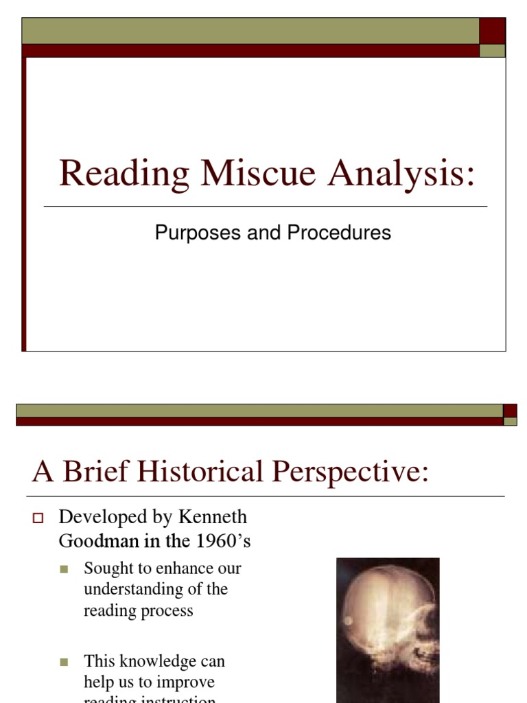 Reading Miscue Analysis (2) | Reading Comprehension | Educational ...