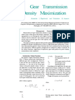 Gear Transmission Density Maximization