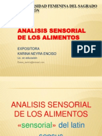 Analisis Sensorial de Los Alimentos
