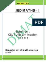 Applied Maths i u i Solution