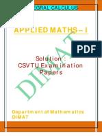 Applied Maths i u III Solution