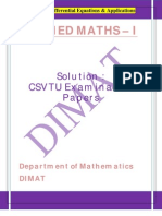 Applied Maths i u v Solution