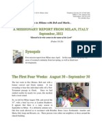 The Italian Memorandum - September 2012 Newsletter