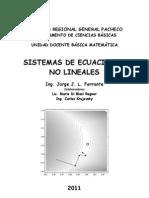 Sistema de Ecuaciones No Lineales