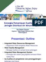 Kerangka Pemantauan Kualitas Air pada Jaringan Distribusi Air Minum Singapura