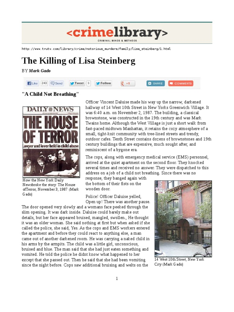 All About Lisa Steinberg | Jury | Lawyer