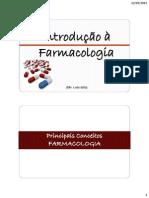 1- Introdução à Farmacologia