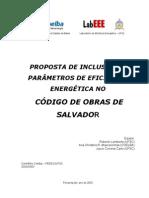 Eficiencia Energetica No Codigo de Obras de Salvador Proposta