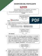 Admision Instrucciones 2013-I