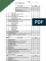 Checklist Osce 13 11 Okt 2011