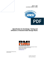 ANSI_Specification for the Design, Testing and Utilization of Industrial Steel Storage Racks
