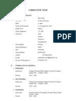 Curriculum Vitae Simple 2009 Con Certificados