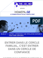 Homepage Reseau Social Familial