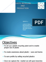 Plastic Recycling Business Plan Presentation
