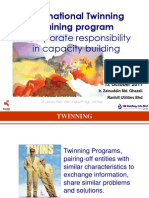International Twinning Training program  - Corporate responsibility in capacity building