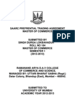 Saarc Prefrential Trading Agreement