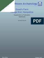 Dowds Farm - Sediments Report