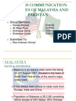 BUSINESS COMMUNICATION PRACTICES OF MALAYSIA AND PAKISTAN