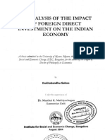 Analysis of the Impact of Foreign Direct Investment on the Indian Economy