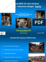 Mencapai MDG Air dan Sanitasi Perkotaan Indonesia dengan Equity
