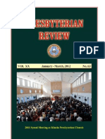 Presbyterian Review - January_March, 2012