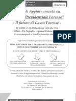 """Corso di aggiornamento su """" Diritto Previdenziale Forense"""""""