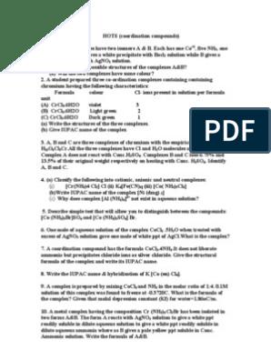 Coordination Compound   Coordination Complex   Chemical Compounds
