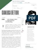 Decreto Sviluppo e Dieci Considerazioni Sul Crowdfunding