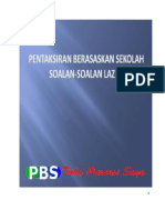 Soalan Lazim Pentaksiran Berasaskan Sekolah (PBS) 12 Ogos 2012