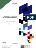 La droite dans la perspective des élections municipales 2014 à Paris