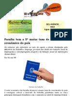 Paraíba tem a 5ª maior taxa de crescimento econômico do país