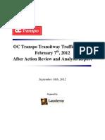 OC Transpo Transitway Incident Consultant Report
