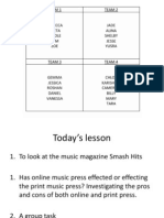 Lesson for 19th Oct 12 music magazines