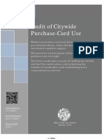 Audit of Citywide Purchase Card Use
